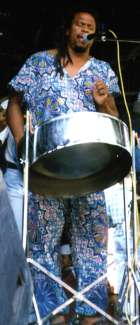 Bravo playing steel pan